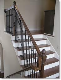 ... Surprising Railings For Stairs Indoor Stair Railings Brown With Black  Iron Railings : interesting ...