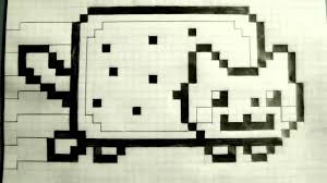 Graph Paper Draw How To Draw Nyan Cat On Graph Paper Rome Fontanacountryinn Com