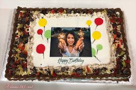 chocolate birthday cake with name editor