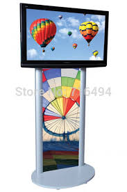 Portable Stands For Display TV Stand With Poster Holder Fits Monitors 100 To 100 Oval Base 79