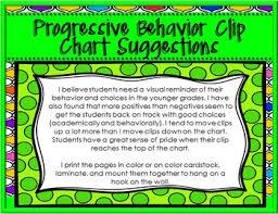 Progressive Behavior Clip Chart With Bright Colors