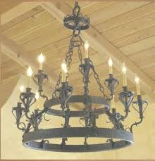 outdoor wrought iron chandelier lighting traditional rustic large in wrought iron candle chandelier gallery