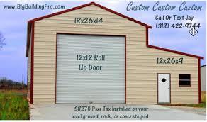 12x12 garage doorCustom Metal Barn  Buildings4Less
