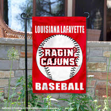 com college flags and banners co ul lafayette ragin cajuns baseball garden flag sports outdoors