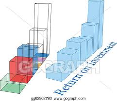 Stock Future Charts Eps Vector Roi Future Growth Projection Bar Charts Stock