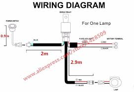 1 lead 1 car automobile led spotlight wiring harness kit 12v with led light bar wiring harness diagram at Led Spotlights Wiring Harness