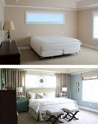 use wall curtains to frame the bed even if there s no windows