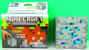 Diamond Ore Light Minecraft Light Up Diamond Ore Interactive Block Toy Review Unboxing Thinkgeek