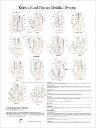 Korean Hand Therapy Meridian System Poster