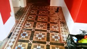 victorian floor restoration sheffield before victorian hallway floor sheffield after restoration textured ceramic tile cleaning