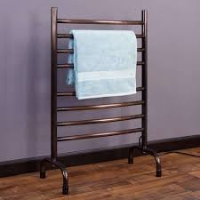 bronze heated towel rack design on laminate wooden floor full size - Heated Towel  Rack