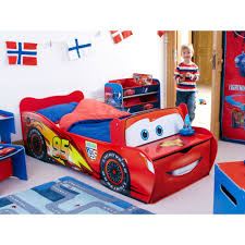disney cars toddler feature bed lightning mcqueen new