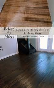 how to sand stain and seal hardwood floors
