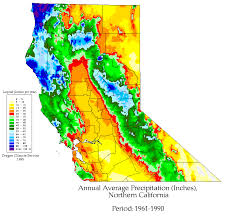 California Annual Rainfall Chart Rainfall Variability