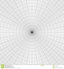 Polar Graph Paper Gray Grid For Polar Graphs Stock Vector
