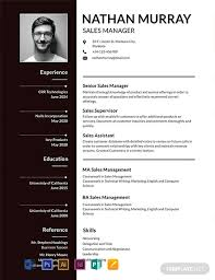 Sales Manager Cv Template Free Sales Manager Resume Template Word Psd Indesign