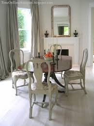 Queen Anne Living Room Furniture Tone On Tone Duncan Phyfe Dining Table With Painted Queen Anne