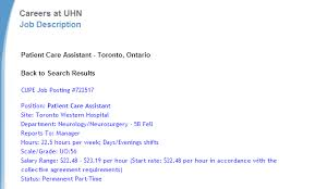 Psw Sample Of Resume And List Of Hospitals That Offer Psw Jobs In Toronto