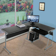home office desk chairs chic slim. L Shape Corner Computer PC Desk Table Workstation Home Office Furniture Chairs Chic Slim