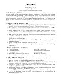 Purchasing Resume Objective Camelotarticles Com