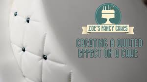 Creating a quilted effect on a cake How To Tutorial Zoes Fancy ... & Creating a quilted effect on a cake How To Tutorial Zoes Fancy Cakes -  YouTube Adamdwight.com