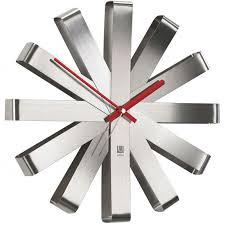 """<b>Часы настенные</b> Umbra """"<b>Ribbon</b>"""", цвет: металлик - купить по ..."""