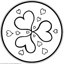Small Picture Mandala Coloring Pages Hearts Mandala Coloring pages of