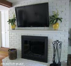 how to mount a tv on a brick fireplace mounting on brick fireplace fireplace living best