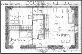 plan 660 sq ft green two bedrooms one bath enlarge