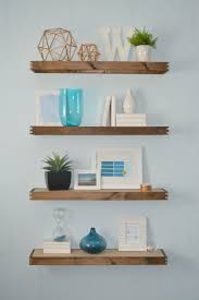 amazing floating shelves to create contemporary wall displays