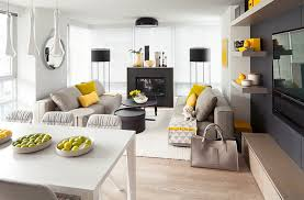 view in gallery throw in a few yellowish greens to make the living room in grey even more appealing bedroomappealing geometric furniture bright yellow bedroom ideas