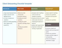 Project Templates Word Client Checklist Roadmap Template Word Project Free
