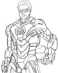 The iron waiter hurries to deliver a glass with a drink. Coloring Pages Iron Man Print Superhero Marvel For Free