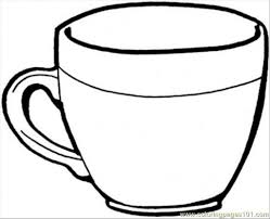 Tea Cup Coloring Page To Really Encourage Color Pages For Coffee ...