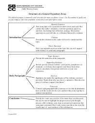unv week expository essay outline structure of a general expository essay introduction body