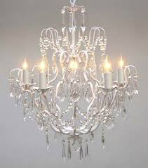 a7 white c 3033 5sw gallery swarovski crystal trimmed wrought iron chandelier