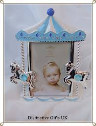 baby boy silver plated carousel photo frame