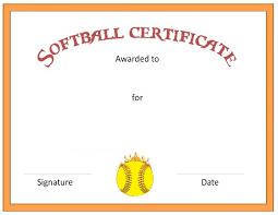 softball award certificate free award certificate templates online softball award certificate