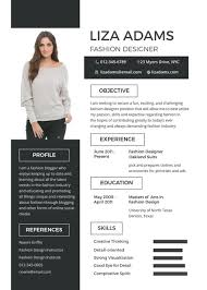 Designer Resume Template Best of Free Fashion Designer Resume And CV Template In PSD MS Word