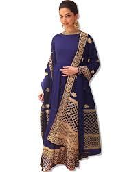 Deepika Padukone Designer Name Deepika Padukone Blue Suit Embroidered Manufacturer