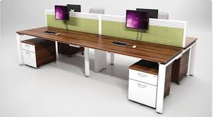 aura bench rectangular set of 4 mobile pedestals white and walnut