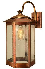 arts and crafts mission style outdoor lighting wall light bracket copper lantern landscape