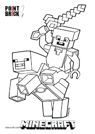 Minecraft Herobrine Coloring Page The Most Pages Printable New