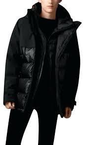 black parka jacket mens puffer down coat hooded