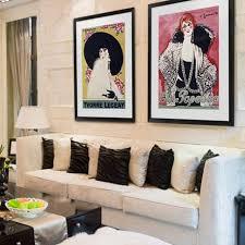 glamorous living room art