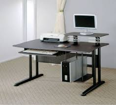 modern home office computer desk from ikea