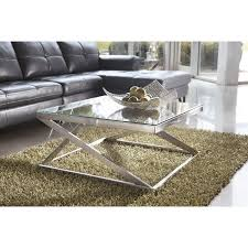 Queen Anne Style Living Room Furniture Modern Style Glass Top Coffee Table Glossy Black Base Rectangle