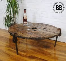 industrial chic furniture ideas. wrench legs upcycled reclaimed industrial cable reel pallet coffee table chic furniture ideas