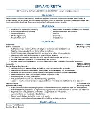 Assembly Resume Samples Line Worker Resumeg Writing Tips Pinterest