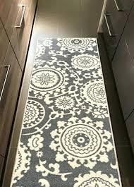 rubber backed bathroom rugs rubber backed x fl swirl medallion grey ivory small runner non slip